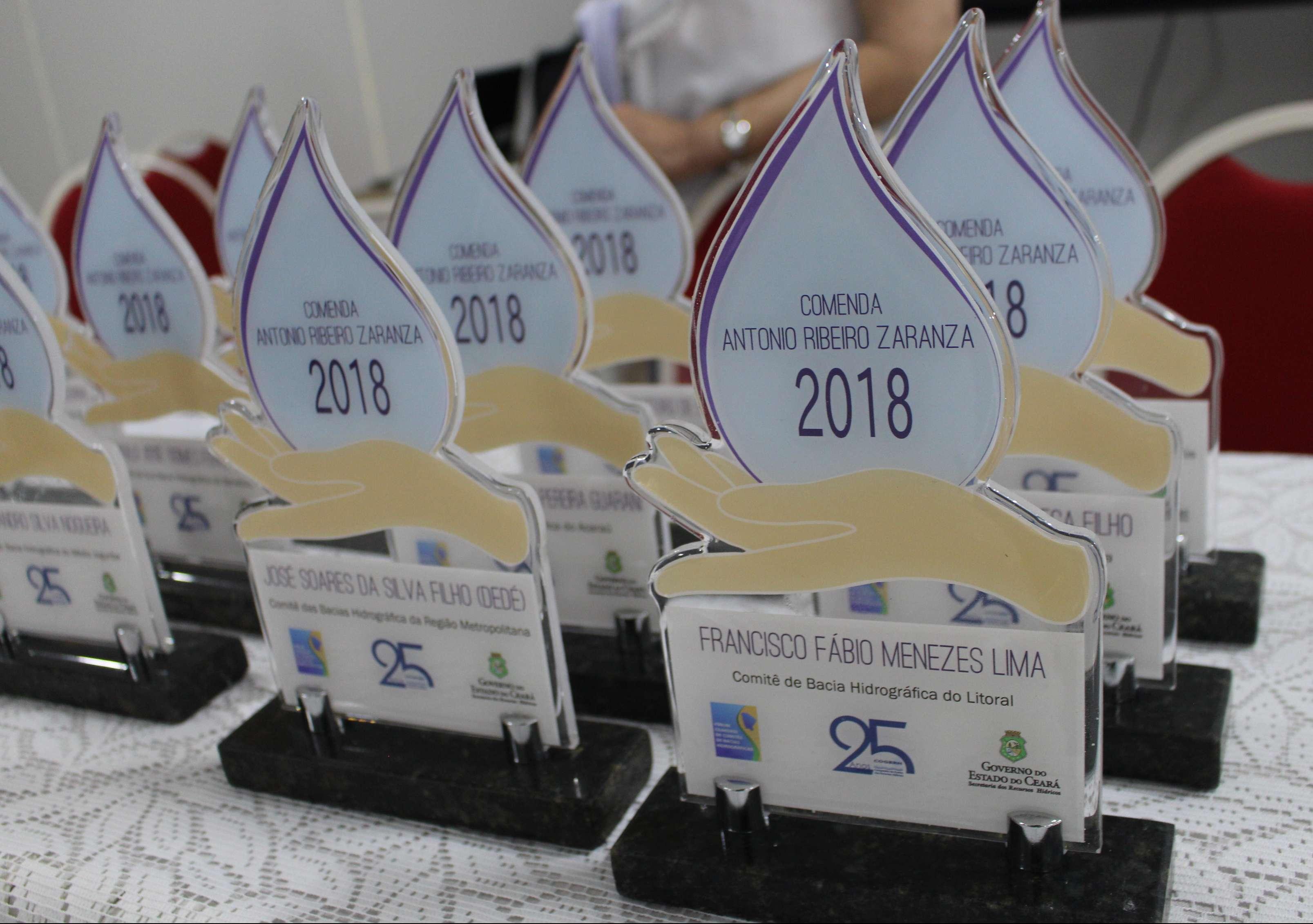 Personalidades do setor de Recursos Hídricos do Ceará recebem Comenda Zaranza