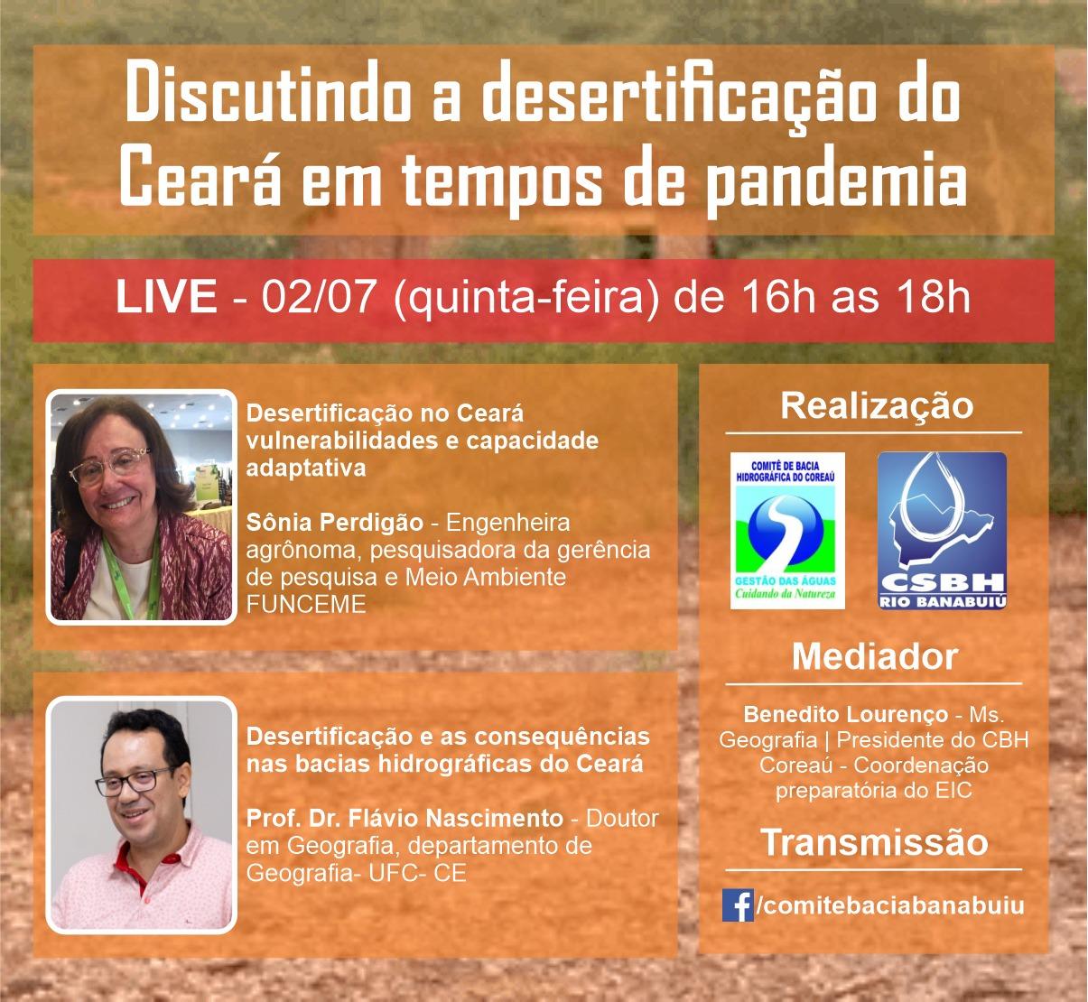 Ao Vivo: Desertificação no Ceará em tempos de pandemia é tema de debate virtual